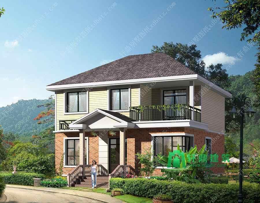 11x10米二层农村小户型自建房图纸_二层实用房屋设计图
