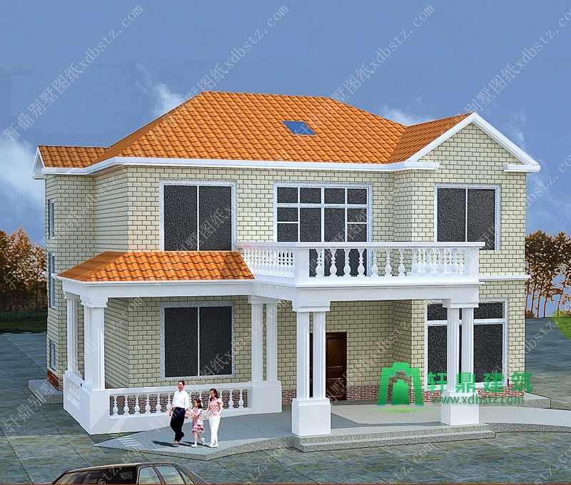 13x12米造价30万左右农村二层小别墅设计图_新农村自建房设计图