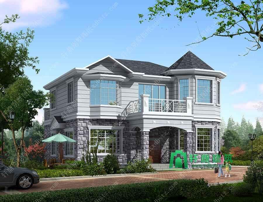 11x12米二层实用美观小别墅设计图_轩鼎建筑设计出品