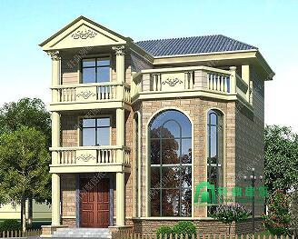 复式三层房屋设计图9x10米