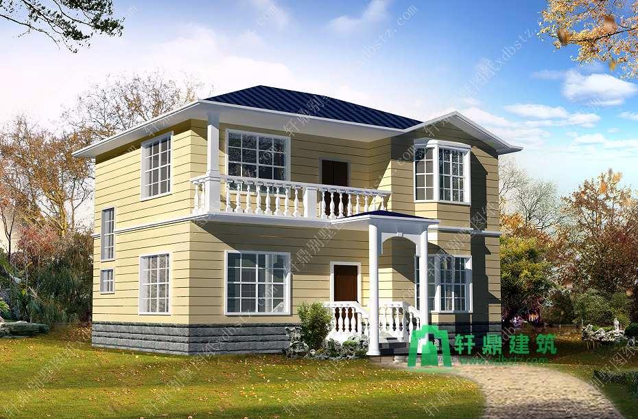12x11.6农村二层房屋设计图纸_二层实用农村别墅设计图纸_推荐二层自建房图纸