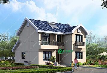 9.6×11.3米二层农村自建房设计图_精致农村小别墅_造价15万左右农村房屋图纸