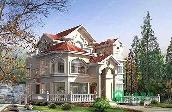 12.9x11.6m三层豪华别墅全套设计图_农村别墅设计图_三层私人住宅
