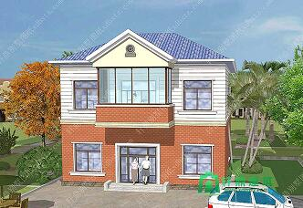 10x11.5m农村小型二层小别墅_主体造价15万左右农村自建房_造价低居住舒适小房子图纸