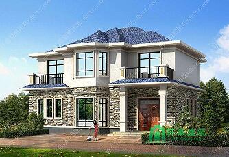 12x11米农村精致二层房屋设计图_轩鼎别墅设计