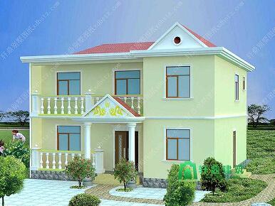 10.3x9.8简单二层农村小房子设计图_造价15万左右农村房屋设计图