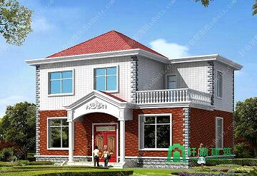 11x9米造价15万左右二层农村小别墅_二层农村精品自建房设计图