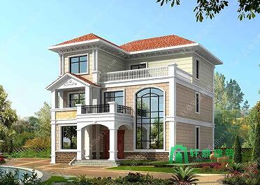 三层实用新款农村自建房设计图11x12米