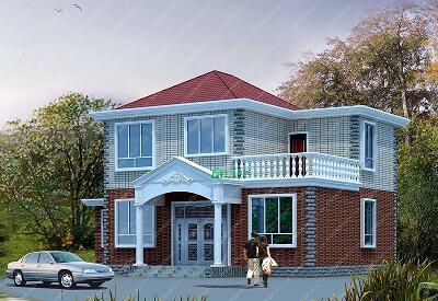 15.3x11.1m二层新农村房屋设计图_新款二层建房图纸_新版本二层带旋转楼梯设计图