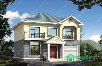 10x9米二层带车库农村房屋设计图_18万左右农村小别墅