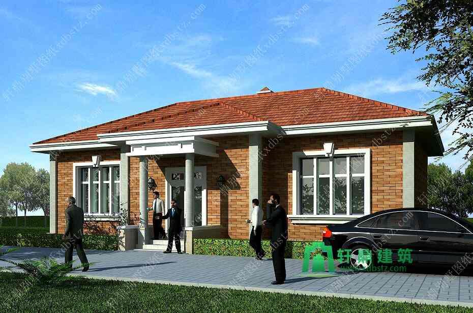 16x9米农村一层别墅设计图_农村一层自建房设计图