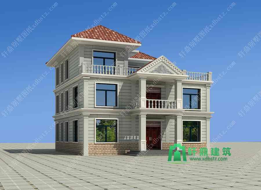 11x9米两层半农村房屋设计图