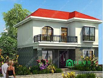 8x9米造价15万农村二层楼房设计图_简单适用农村盖房子图纸