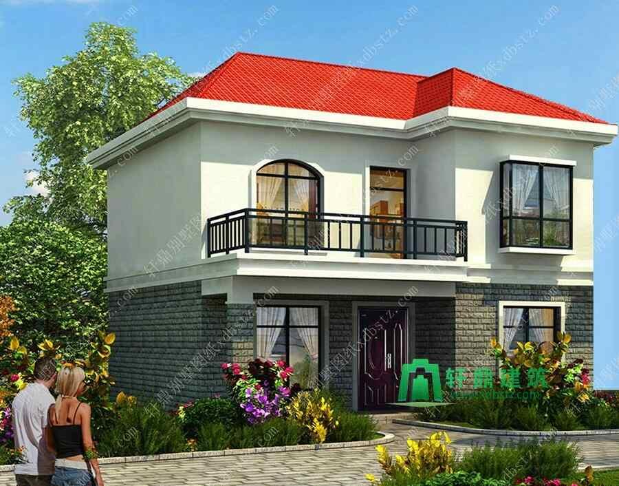 8x9米造价15万农村二层楼房设计图 简单适用农村盖房子图纸
