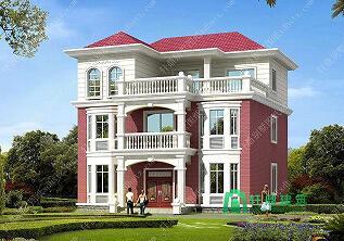 11x10米二层半新款别墅设计图_别墅设计图纸及效果图大全