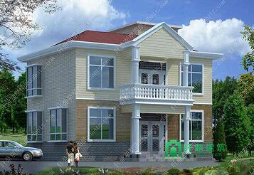 10.7x7.9m二层经典农村房屋设计图_造价15万左右自建房图纸_适合农村建房图纸