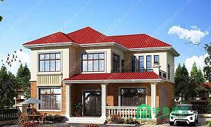 12x12米造价20万农村别墅设计图_别墅图纸大全