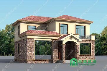 12x11实用美观房屋设计图_二层农村小别墅设计图纸_轩鼎建筑设计出品