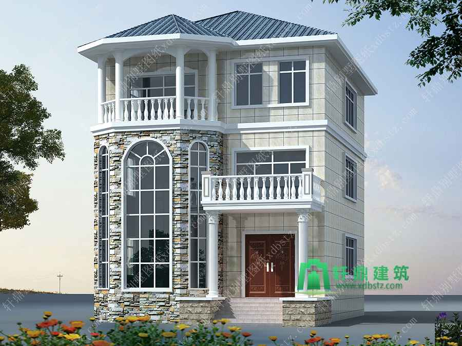 9x11米三层小别墅设计图,户型合理,适合农村自建房