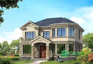 140平气派美观的二层别墅房屋设计图,含效果图