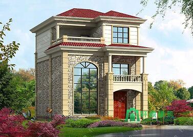 8x10米三层别墅设计图,美观大方,高贵典雅