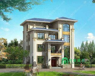 13x13米农村四层楼房新款设计图_四层别墅设计图