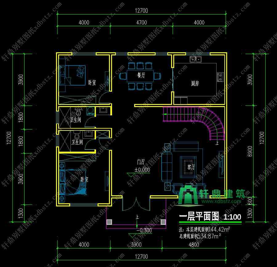 13x13米农村四层楼房新款设计图