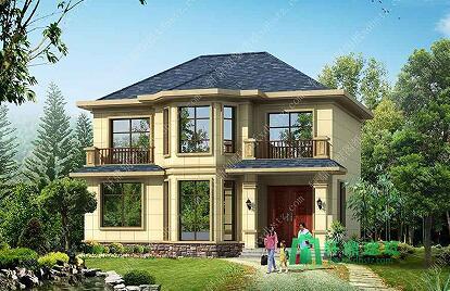 11x10米 乡村别墅设计图 二层别墅设计图