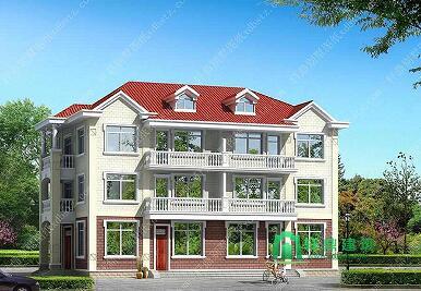 一梯两户三层别墅设计图,双阳台