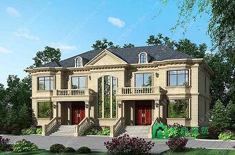 二层别墅设计图,双拼,双阳台