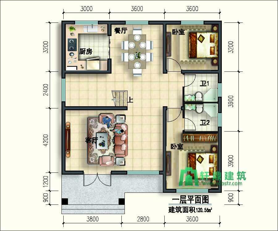 10x12二层小别墅设计图
