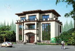 新中式三层自建别墅,14.8*10.8m,占地160平,带露台复式别墅