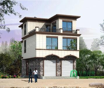 小面积中式三层自建别墅,款式新颖,带屋顶露台,也可做门市