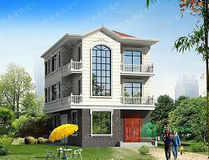一梯三户占地110㎡三层自建小别墅,带有室内车库,精致小巧,布局完善