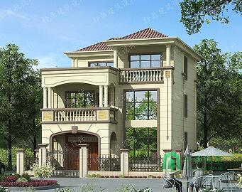 占地110平方三层自建小别墅,外观精致,布局合理