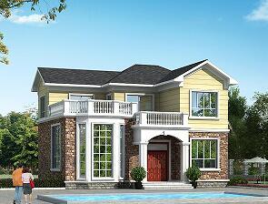 11.7m*10.20m二层自建别墅,造价20万,简约大方