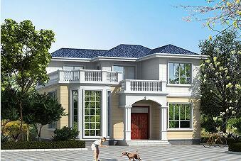 占地110㎡,造价20万二层农村自建别墅设计图,含全套施工图