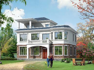 占地145㎡二层半自建别墅设计图,带大面积露台,经济实用