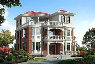 3层欧式自建别墅设计图,占地191㎡,含全套施工图纸