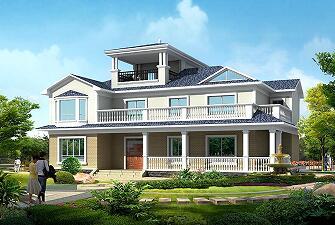 两层半别墅设计图,中式田园风格,美观大气,带有地下室