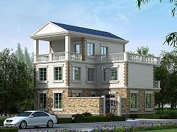 欧式三层浪漫温馨小别墅,占地107㎡,带小庭院,含全套施工图