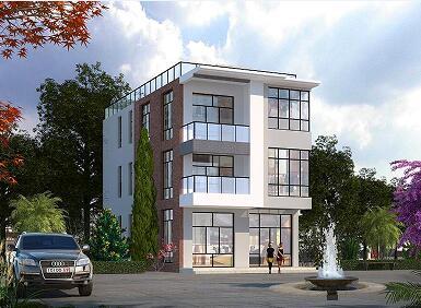 四层日式风格别墅设计图,高端、时尚,占地141㎡,含全套施工图