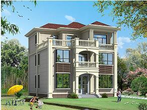 占地135㎡三层自建别墅设计图,11.3m*12.25m,精致美观