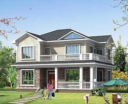 二层自建别墅设计图,占地122㎡小户型自建房,布局合理