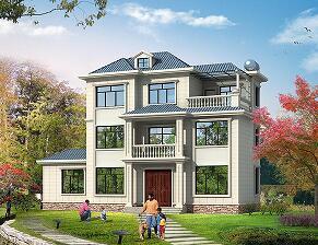 小户型中式三层自建别墅设计图,占地104㎡,布局完善