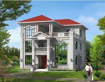 三层复式别墅设计图,占地182平方米自建房,布局合理