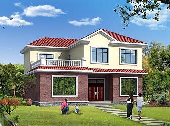 二层小别墅设计图,14m*12m经济适用自建房,建房首选