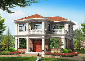 经济实用的二层自建小别墅,11.94m*11.6m,精致美观