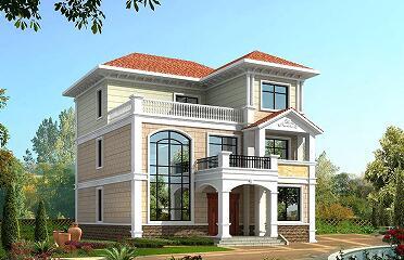 复式三层自建别墅设计图,11.54m*12.34m