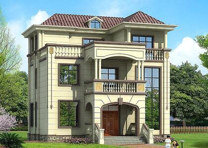 欧式三层自建房,占地120㎡复式别墅,精品别墅设计图
